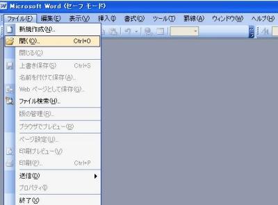 ファイルを開きます