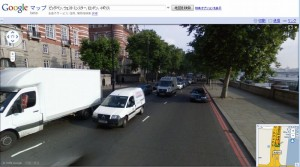 ストリートビューの画面の中は日本語にはなりません