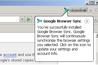 Goolge Browser Syncの開始