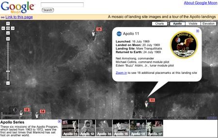 アポロ計画のマップが表示されます