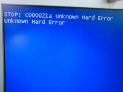 Unknown Hard Error