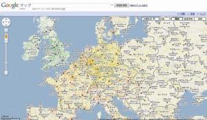 外国の地図が日本語で表示されます