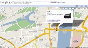 建物や道の名前も日本語で表示され検索も日本語で可能です。